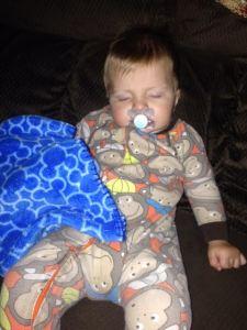 Gavin sleeping