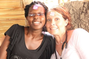 Here is a picture from a crazy day in the clinic with Ashley's trusted interpreter Carol.