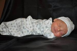 Xander as a newborn.